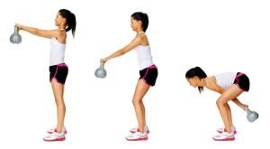 Basisbeweging met een Kettlebell, makkelijk te doen.