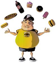 Te dik geworden door junkfood.Dat merk je!