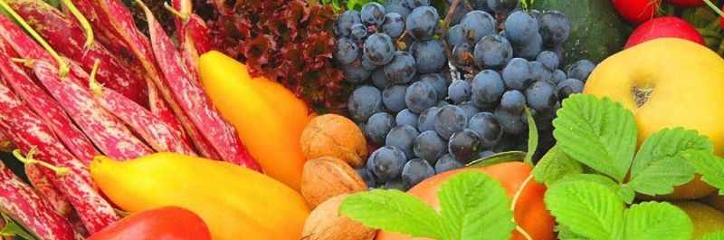 groene smoothie dieet, veel groenten en fruit in alle kleuren