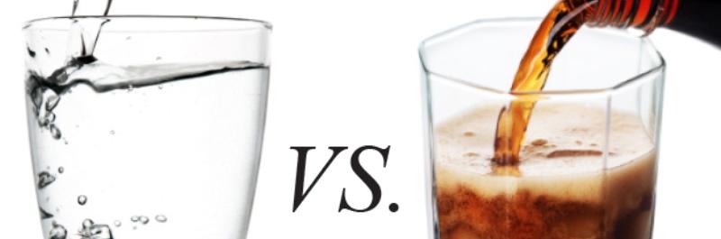 hoe verlies je gewicht, cola versus water