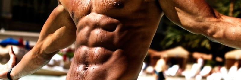 meer vet verbranden, man met waanzinnig getraind lichaam