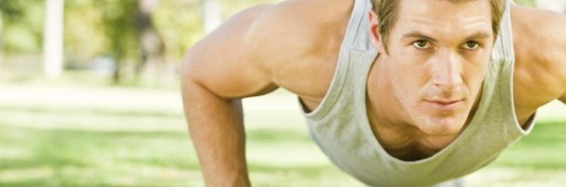 meer vet verbranden, man die push-ups doett