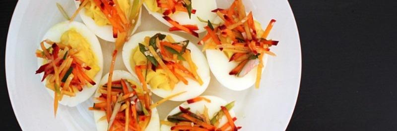 paleo dieet ontbijt, gevulde eieren