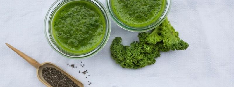 vet verbrandende groene smoothies